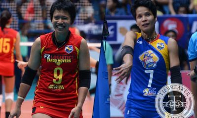 Tiebreaker Times Future bests past: Kim Fajardo on squaring off with Tina Salak News PSL Volleyball  Tina Salak Kim Fajardo F2 Logistics Cargo Movers 2016 PSL Season 2016 PSL All Filipino Conference