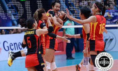 Tiebreaker Times Young F2 weathers RC Cola in Part One of epic weekend clash News PSL Volleyball  Tina Salak Tin Agno RC Cola Army Lady Troopers Ramil De Jesus Rachel Anne Daquis Kungfu Reyes Kim Fajardo Kim Dy Jovelyn Gonzaga F2 Logistics Cargo Movers Dawn Macandili Ara Galang Aby Marano 2016 PSL Season 2016 PSL All Filipino Conference