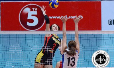 Tiebreaker Times F2 Logistics romps dazed RC Cola-Army, sweeps weekend series News PSL Volleyball  RC Cola Army Lady Troopers Rachel Daquis Mika Reyes Kim Fajardo Jovelyn Gonzaga F2 Logistics Cargo Movers Dawn Macandili Cha Cruz 2016 PSL Season 2016 PSL All Filipino Conference