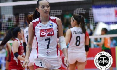 Tiebreaker Times Cignal earns first second round win, keeps Amy's winless News PSL Volleyball  Michael Moleno Marijo Medalla Jowie Versoza Jheck Dionela Jeanette Panaga Jannine Navarro Djanel Cheng Cindy Imbo Cignal HD Spikers Cherry Vivas Amy's Kitchen-Perpetual Altas 2016 PSL Season 2016 PSL All Filipino Conference