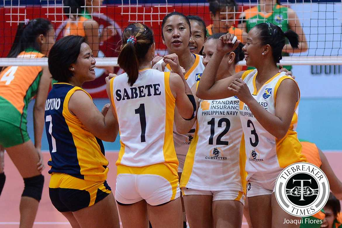 Tiebreaker Times Navy opens second round with sweep of Amy's Kitchen News PSL Volleyball  Zenaida Chavez Standard Insurance-Navy Corvettes Pau Soriano Michael Molleno Marijo Medalla Lourdes Clemente Janet Serafica Florence Madulid Diane Ticar Amy's Kitchen-Perpetual Altas