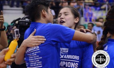 Tiebreaker Times Gumabao relishes first club title News PVL Volleyball  Pocari Sweat Lady Warriors Michele Gumabao 2016 SVL Season 2016 SVL Open Conference