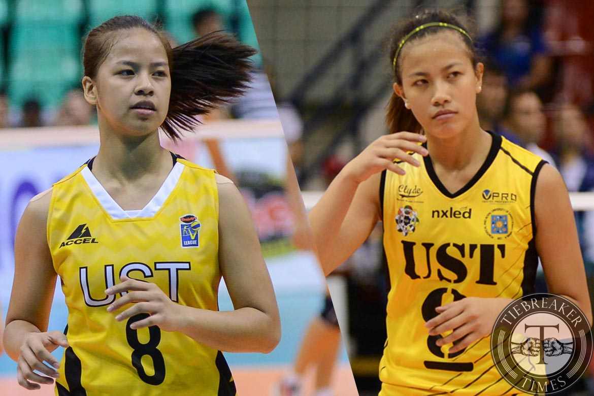 Tiebreaker Times Laure sisters reunion imminent, but not inevitable News UAAP UST Volleyball  UST Women's Volleyball UAAP Season 81 Women's Volleyball UAAP Season 81 Kungfu Reyes Eya Laure EJ Laure