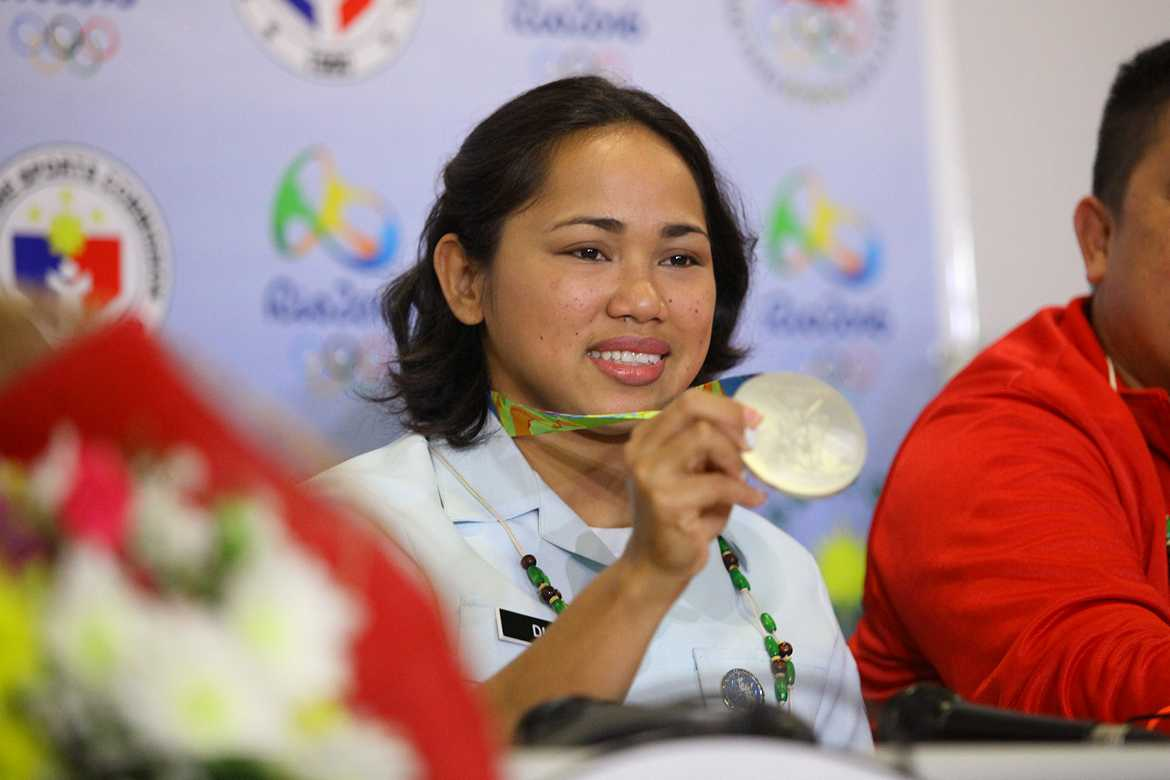 Philippine Sports News - Tiebreaker Times Diaz targets Tokyo 2020 gold 2016 Olympic Games News Weightlifting  Hidilyn Diaz 2016 Olympic Games - Weightlifting
