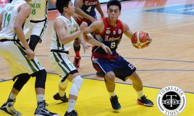 Tiebreaker Times Letran arrests losing streak, sends CSB to 0-13 hole Basketball CSB CSJL NCAA News  Rey Nambatac NCAA Season 92 Seniors Basketball NCAA Season 92 Letran Seniors Basketball JP Calvo JJ Domingo Jeff Napa Gabby Velasco Christian Fajarito Benilde Seniors Basketball