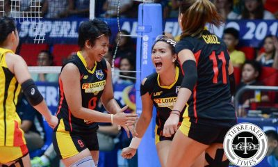Tiebreaker Times F2 Logistics dethrones Petron, books second Finals seat News PSL Volleyball  Ramil De Jesus Petron Tri-activ Spikers Kim Fajardo Kim Dy George Pascua F2 Logistics Cargo Movers Dawn Macandili Cha Cruz Aiza Maizo-Pointillas Aby Marano 2016 PSL Season 2016 PSL All Filipino Conference