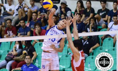 Tiebreaker Times Blue Eagles vanquish Red Lions to open Spikers' Turf campaign ADMU News PVL SBC Volleyball  Tony Koyfman San Beda Men's Volleyball Oliver Almadro Marck Espejo Manuel Sumaguid Jose Roque Ish Polvorosa Berlin Paglinawan Ateneo Men's Volleyball 2016 Spikers Turf Season 2016 Spikers Turf Collegiate Conference