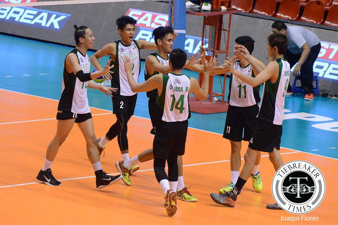 Tiebreaker Times Wildcats claw past Generals for first win EAC News PVL Volleyball  Rod Palmero Ralph Oclima NCBA Wildcats Lee Nidua Jorel Vicente Jason Canlas Israel Encina EAC Men's Volleyball Darul Valenzuela 2016 Spikers Turf Season 2016 Spikers Turf Collegiate Conference