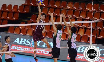 Tiebreaker Times Fighting Maroons stave Wildcats off, get second win News PVL UP Volleyball  Wilhelm Luna UP Men's Volleyball Rod Palmero NCBA Wildcats Jeffrey Himenez Jason Canlas Evan Raymundo Ernesto Balubar Charles Acuna Alfred Valbuena 2016 Spikers Turf Season 2016 Spikers Turf Collegiate Conference