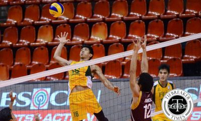Tiebreaker Times FEU hands NCAA champs first loss FEU News PVL UPHSD Volleyball  Sammy Acaylar Rikko Marmeto Rey Diaz Relan Taneo Perpetual Men's Volleyball Kris Silang JP Bugaoan Greg Dolor FEU Men's Volleyball Allan Sala-an 2016 Spikers Turf Season 2016 Spikers Turf Collegiate Conference
