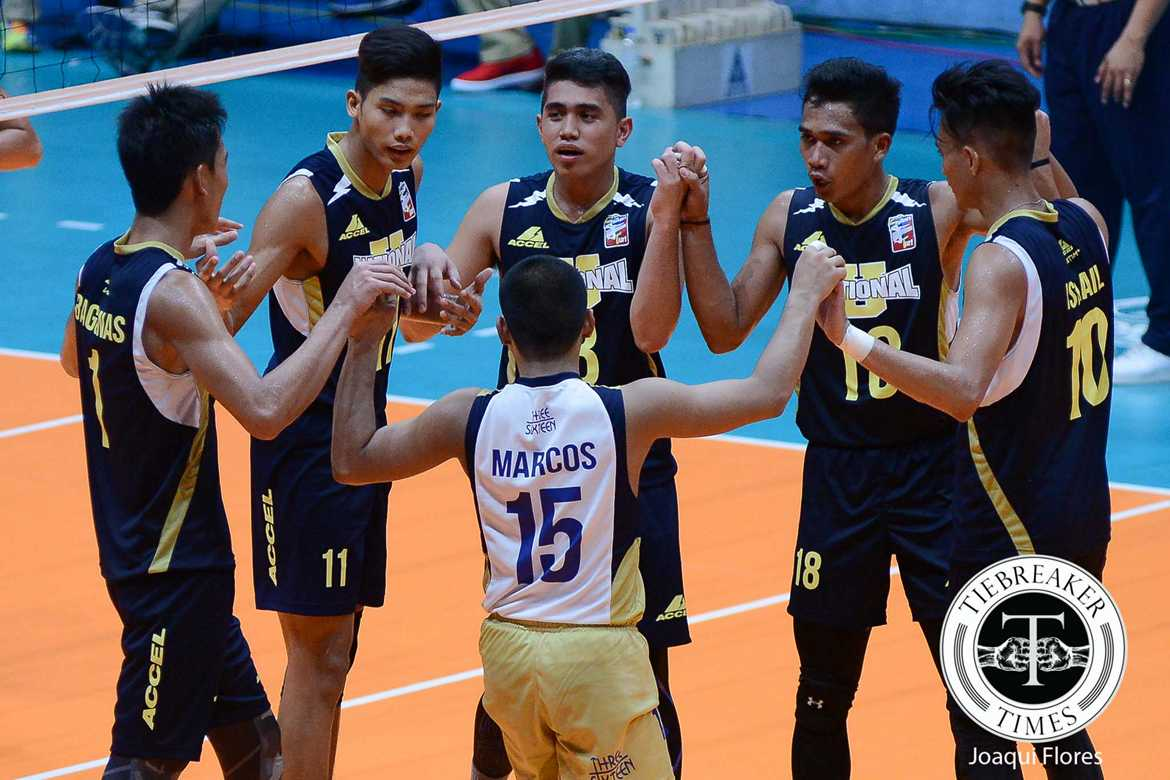 Tiebreaker Times National U sets up Finals rematch with Ateneo News NU PVL UST Volleyball  UST Men's Volleyball Ricky Marcos Odjie Mamon NU Men's Volleyball MAnuel Medina Madz Gampong Kim Dayadante Dante Alinsunurin Arnold Bautista 2016 Spikers Turf Season 2016 Spikers Turf Collegiate Conference