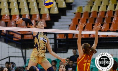 Tiebreaker Times Santiago pummels Lady Stags, gives Lady Bulldogs first win News NU PVL SSC-R Volleyball  San Sebastian Women's Volleyball Roger Gorayeb NU Women's Volleyball Kath Villegas Jaja Santiago Grethcel Soltones Gayle Valdez Edjet Mabbayad Denice Lim 2016 SVL Season 2016 SVL Collegiate Conference