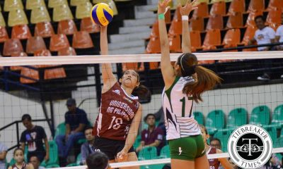 Tiebreaker Times Lady Maroons pull off convincing win over Lady Blazers CSB News PVL UP Volleyball  UP Women's Volleyball Princess Gaiser Nicole Tiamzon Michael Carino Mae Basarte Jerry Yee Jeanette Panaga Isa Molde Diana Carlos CSB Women's Volleyball 2016 SVL Season 2016 SVL Collegiate Conference