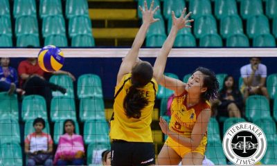 Tiebreaker Times Lady Stags eliminate Tigresses from semis contention News PVL SSC-R UST Volleyball  Vira Guillema UST Women's Volleyball San Sebastian Women's Volleyball Ria Meneses Kungfu Reyes Katherine Villegas Grethcel Soltones Eya Laure Clint Malanzo Alyssa Eroa 2016 SVL Season 2016 SVL Collegiate Conference