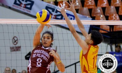 Tiebreaker Times Lady Maroons clinch semis seat, drub Lady Stags News PVL SSC-R UP Volleyball  UP Women's Volleyball San Sebastian Women's Volleyball Nicole Tiamzon Kathy Bersola Joyce Sta. Rita Jerry Yee Grethcel Soltones Diana Carlos Denice Lim Clint Malanzo 2016 SVL Season 2016 SVL Collegiate Conference