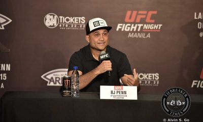 Tiebreaker Times Penn out of Fight Night Manila 2 due to injury - reports Mixed Martial Arts News PXC  UFC Fight Night Manila 2 BJ Penn