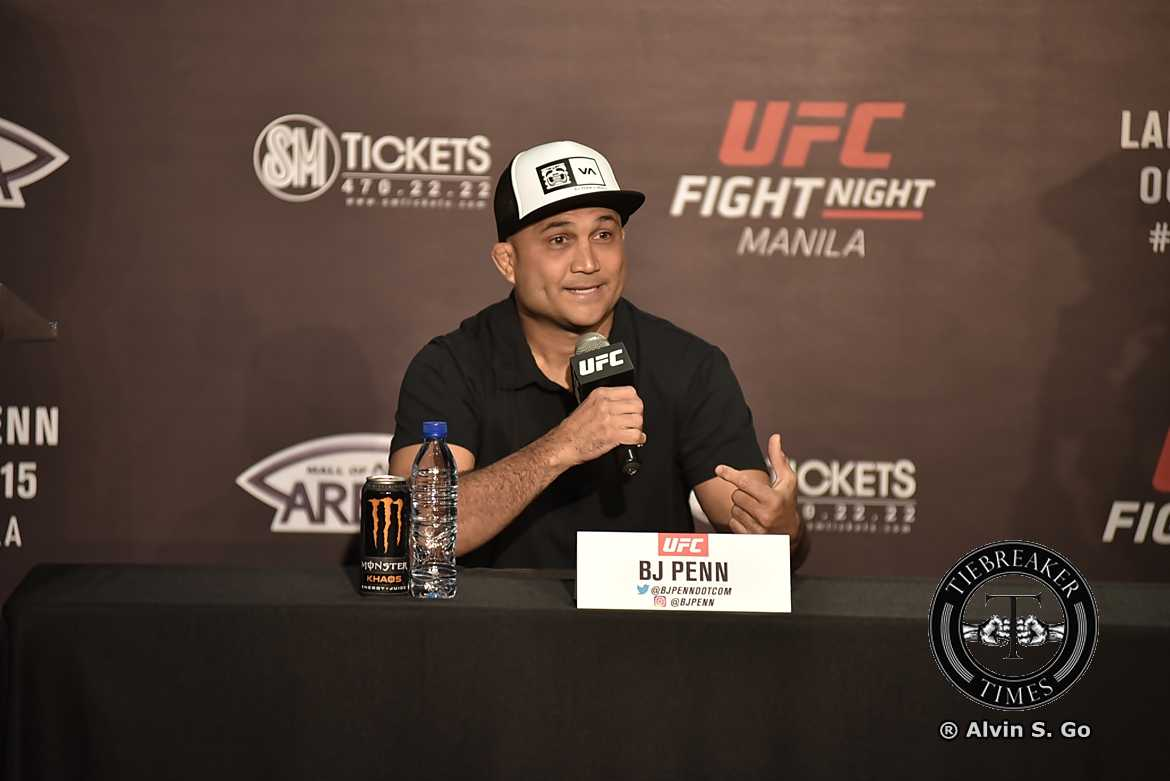 Tiebreaker Times Penn's thirst for competition, history keeps him going Mixed Martial Arts News UFC  UFC Fight Night Manila 2 BJ Penn