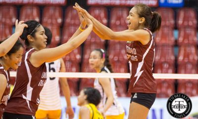 Tiebreaker Times Lady Maroons out-muscle Tigresses to remain unbeaten News PVL UP UST Volleyball  UST Women's Volleyball UP Women's Volleyball Pia Gaiser Mae Basarte Kungfu Reyes Kathy Bersola Justine Dorog Jerry Yee Isa Molde Eya Laure Arielle Estranero 2016 SVL Season 2016 SVL Collegiate Conference