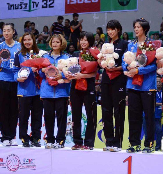 Tiebreaker Times 2016 AVC Asian Women's Club Championship Awarding Ceremony 2016 Asian WCC News Volleyball  NEC Red Rockets Bangok Glass Ba'yi Shenzheng