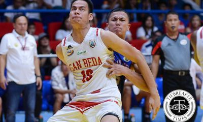 Tiebreaker Times Adamos challenged by foreign centers, finds strength in mom Basketball NCAA News SBC  San Beda Seniors Basketball NCAA Season 92 Seniors Basketball NCAA Season 92 Donald Tankoua Ben Adamos