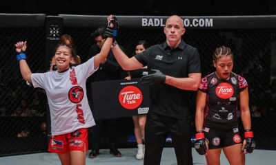 Tiebreaker Times WATCH Lakay's Osenio shocks Osman; Catalan finally wins one Mixed Martial Arts News ONE Championship  You Liang Zhang Trestle Tan Rene Catalan ONE Unbreakable Warriors April Osenio Ann Osman Agilan Thani