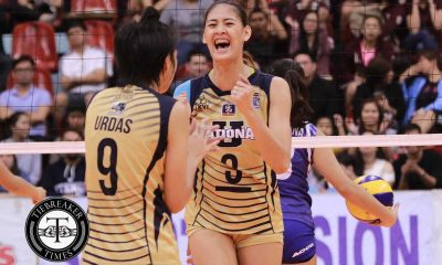 Tiebreaker Times Santiago overwhelmed by 'hope for PH volleyball' tag News NU PVL Volleyball  NU Women's Volleyball Jaja Santiago 2016 SVL Season 2016 SVL Collegiate Conference