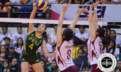 Tiebreaker Times Still Pons-less FEU one win away from bronze, takes down UP FEU News PVL UP Volleyball  UP Women's Volleyball Tots Carlos Toni Basas Shaq delos Santos Remy Palma Nicole Tiamzon Kyla Negrito Kyla Atienza Jerry Yee Isa Molde Heather Guino-o FEU Women's Volleyball 2016 SVL Season 2016 SVL Collegiate Conference