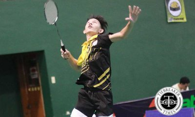 Tiebreaker Times Tiger Shuttlers keep semis bid alive, edge out Tamaraws Badminton FEU NCAA News UAAP UST  UST Men's Badminton Team UAAP Season 79 Badminton UAAP Season 79 Paul Pantig Kristian Barrios Josh Maquelabit John Sotea FEU Men's Badminton Team Estarco Bacalso Cris Sanchez