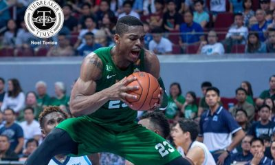 Tiebreaker Times La Salle overpowers Adamson to keep streak going AdU Basketball DLSU News UAAP  UAAP Season 79 Men's Basketball UAAP Season 79 Robbie Manalang Papi Sarr Jerrick Ahanmisi Jeron Teng Franz Pumaren DLSU Men's Basketball Ben Mbala Aljun Melecio Aldin Ayo Adamson Men's Basketball
