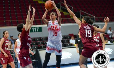 Tiebreaker Times Sto. Domingo-led UE dominates UP for second win Basketball News UAAP UE UP  UP Women's Basketball UE Women's Basketball UAAP Season 79 Women's Basketball UAAP Season 79 Ruthlaine Tacula Pesque Pesquera Maan Wong Love Sto. Domingo Lourdes Ordoveza Kenneth Raval Eunique Chan Aileen Lebornio