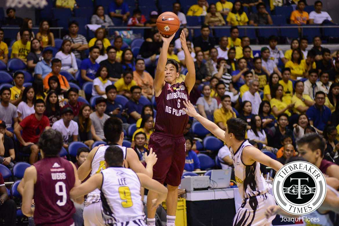 Tiebreaker Times UP's Manuel believes Maroons are getting there Basketball News UAAP UP  UP Men's Basketball UAAP Season 79 Men's Basketball UAAP Season 79 Jett Manuel