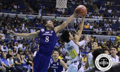 Tiebreaker Times Aaron Black to miss two weeks due to foot injury ADMU Basketball News UAAP  UAAP Season 79 Men's Basketball UAAP Season 79 Epok Quimpo Ateneo Men's Basketball Aaron Black