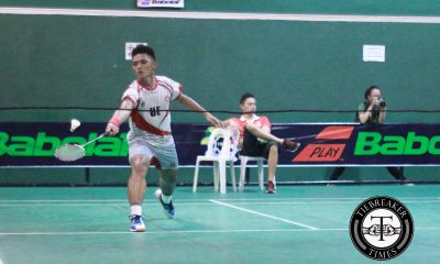 Tiebreaker Times UE escapes Adamson to bag first win AdU Badminton News UAAP UE  UE Men's Badminton Team UAAP Season 79 Badminton UAAP Season 79 Kenet Cruz Gerloth Delizo Elden Conchea Elben Concha Arman Manlalangit Angelo David Adamson Men's Badminton Team