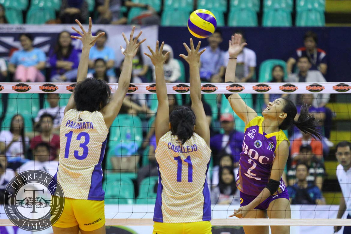 Philippine Sports News - Tiebreaker Times BOC grinds out tight win over pesky Air Force News PVL Volleyball  Nat Jaisaen May Ann Pantino Lilet Mabbayad Kanjana Kuthaisong Jonalyn Ibisa Dell Palomata Bureau of Customs Transformers Alyssa Valdez Air Force Jet Spikers 2016 SVL Season 2016 SVL Reinforced Conference