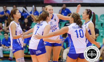 Tiebreaker Times Pocari Sweat rallies back in third set to sweep Laoag News PVL Volleyball  Rommel Abella Pocari Sweat Lady Warriors Nes Pamilar Melissa Gohing Laoag Power Smashers Iris Tolenada Breanna Mackie Andrea Kacsits 2016 SVL Season 2016 SVL Reinforced Conference