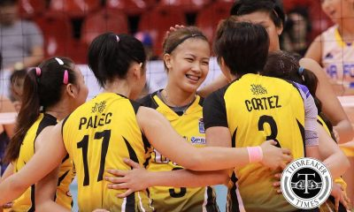 Tiebreaker Times Depleted Tigresses stun Jet Spikers News UAAP UST Volleyball  UST Women's Volleyball Ria Meneses Patricia Rasmo Kungfu Reyes Iari Yongco EJ Laure Chlodia Cortez Carla Sandoval Alex Cabanos Air Force Jet Spikers 2016 SVL Season 2016 SVL Reinforced Conference
