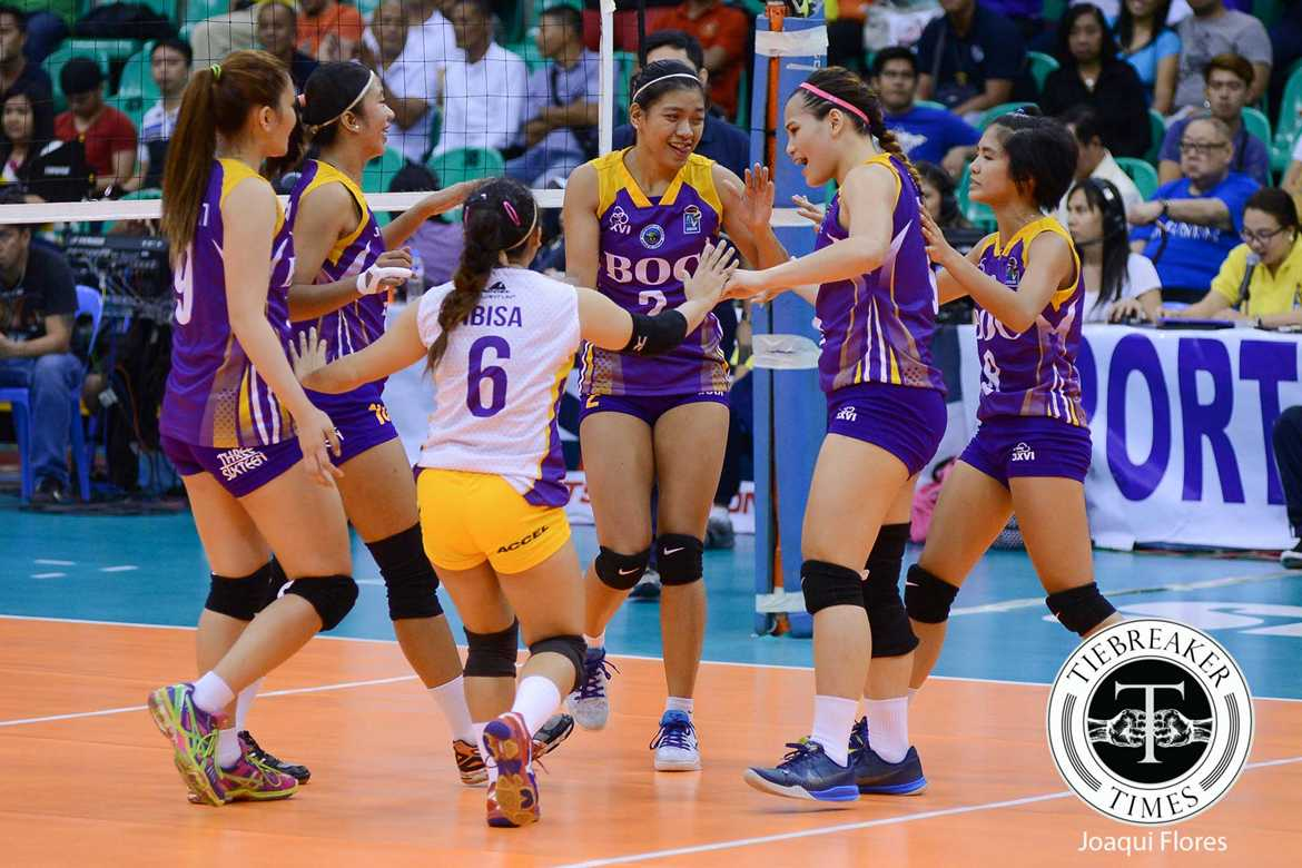 Tiebreaker Times Customs solidify semis spot with sweep of Coast Guard News PVL Volleyball  Sherwin Meneses Samantha Dawson Nattanicha Jaisen Gilbert Odron Fenela Emnas Coast Guard Lady Dolphins Bureau of Customs Transformers Alyssa Valdez 2016 SVL Season 2016 SVL Reinforced Conference