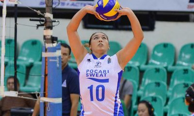 Tiebreaker Times After year-long absence, Tolenada graces volleyball court once more News PVL Volleyball  Pocari Sweat Lady Warriors Iris Tolenada 2016 SVL Season 2016 SVL Reinforced Conference