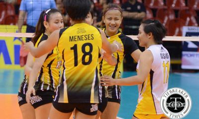 Tiebreaker Times UST gets back on track, deals Laoag second straight defeat News PVL UST Volleyball  UST Women's Volleyball Rica Rivera Ria Meneses Nes Pamilar Laoag Power Smashers Kungfu Reyes Jorelle Singh Grethcel Soltones EJ Laure Cherry Rondina Alex Cabanos Aiko Urdas 2016 SVL Season 2016 SVL Reinforced Conference