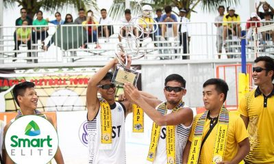Tiebreaker Times No more silver for long-suffering Guzman Beach Volleyball News UAAP UST  UST Men's Volleyball UAAP Season 79 Men's Beach Volleyball UAAP Season 79 Kris Roy Guzman Anthony Arbasto
