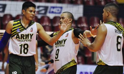 Tiebreaker Times Army thwarts 100 Plus in Kungfu Reyes' return to action News PVL Volleyball  Rico De Guzman PJ Cuzon Philip Bagalay Patrick Rojas Kungfu Reyes John Wong Pacifar John Kenneth Bayking Joel Villoson Jasper Adorador Benjaylo Labide Army Troopers 2016 Spikers Turf Season 2016 Spikers Turf Reinforced Conference 100Plus Active Spikers