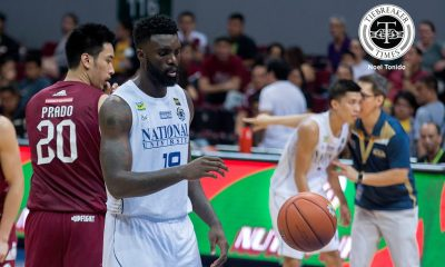 Tiebreaker Times Aroga clears issue with UP fan: 'He wasn't provoking me' Basketball News NU UAAP  UAAP Season 79 Men's Basketball UAAP Season 79 NU Men's Basketball Alfred Aroga