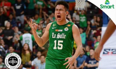 Tiebreaker Times La Salle survives Adamson scare to keep perfect slate AdU Basketball DLSU News UAAP  UAAP Season 79 Men's Basketball UAAP Season 79 Sean Manganti Ricci Rivero Papi Sarr Jerrick Ahanmisi Franz Pumarne DLSU Men's Basketball Ben Mbala Aljun Melecio Aldin Ayo Adamson Men's Basketball