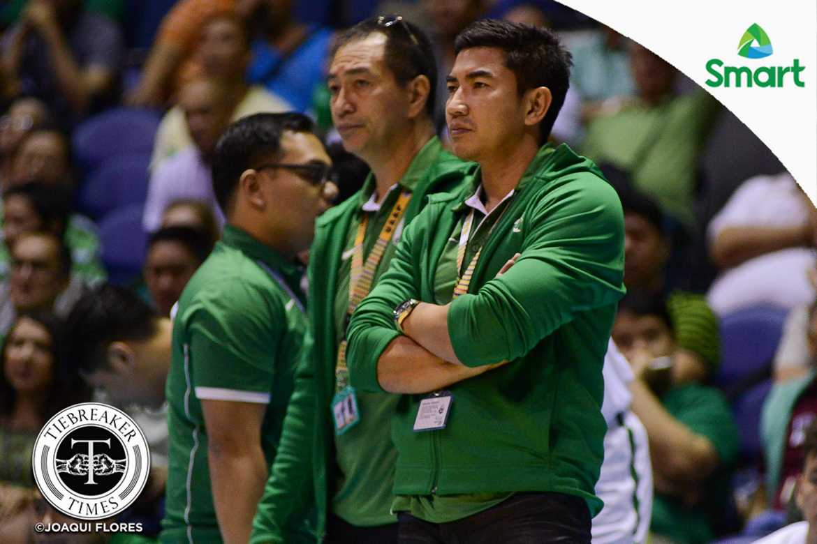 Tiebreaker Times Ayo tells side on 'tall' line-up: 'Hindi lang kami small ball' Basketball DLSU News UAAP  UAAP Season 79 Men's Basketball UAAP Season 79 DLSU Men's Basketball Aldin Ayo