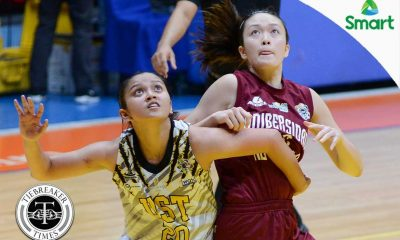 Tiebreaker Times Felisarta's late show drags UST past UP for third win Basketball News UAAP UP UST  UST Women's Basketball UP Women's Basketball UAAP Season 79 Women's Basketball UAAP Season 79 Shanda Anies Ruby Portillo Pesque Pesquera Maan Wong Kenneth Raval Haydee Ong