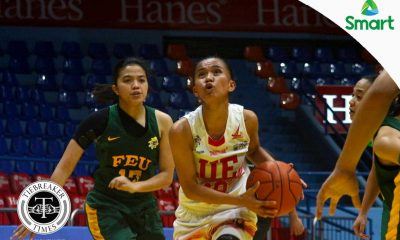 Tiebreaker Times UE overcomes poor start, dispatches FEU for 7th win Basketball FEU News UAAP UE  UE Women's Basketball UAAP Season 79 Women's Basketball UAAP Season 79 Ruthlaine Tacula Precious Arellado Nicole Mendina Love Sto. Domingo FEU Women's Basketball Bert Flores Aileen Lebornio