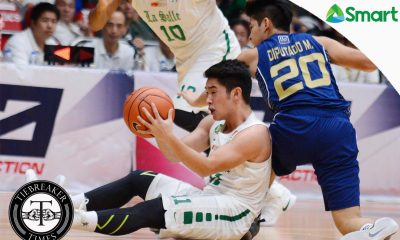 Tiebreaker Times La Salle dismantles National U to secure Final Four spot Basketball DLSU News NU UAAP  UAAP Season 79 Men's Basketball UAAP Season 79 Rev Diputado Reggie Morido NU Men's Basketball JJay Alejandro Jeron Teng Eric Altamirano DLSU Men's Basketball Ben Mbala Aljun Melecio Aldin Ayo