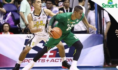 Tiebreaker Times La Salle blasts UST by 43 points to clinch twice-to-beat Basketball DLSU News UAAP UST  UST Men's Basketball UAAP Season 79 Men's Basketball UAAP Season 79 Louie Vigil Justine Baltazar Jeron Teng DLSU Men's Basketball Boy Sablan Ben Mbala