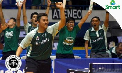 Tiebreaker Times Green Paddlers extend magical run DLSU News NU Table Tennis UAAP  UAAP Season 79 Men's Table Tennis UAAP Season 79 Ralph Nones NU Men's Table Tennis Nathan Siasico Jun Cubio John Misal Jeremy Ruiz DLSU Men's Table Tennis Daniel Ocon