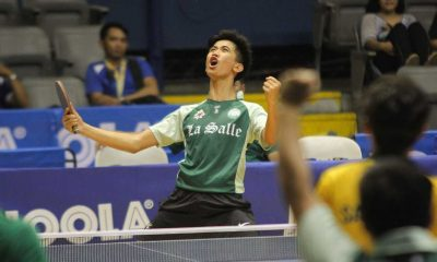 Tiebreaker Times ​​La Salle comes marching in, rises from 6th to the semis DLSU FEU News Table Tennis UAAP UE UP  UP Men's Table Tennis UE Men's Table Tennis Tarak Cabrido Ralph Nones Nathan Siasico Marco Eludo Jeremy Ruiz FEU Men's Table Tennis Ermar Eder Dominic Duot DLSU Men's Table Tennis Daniel Ocon Blu Lamayan Abner Osorna